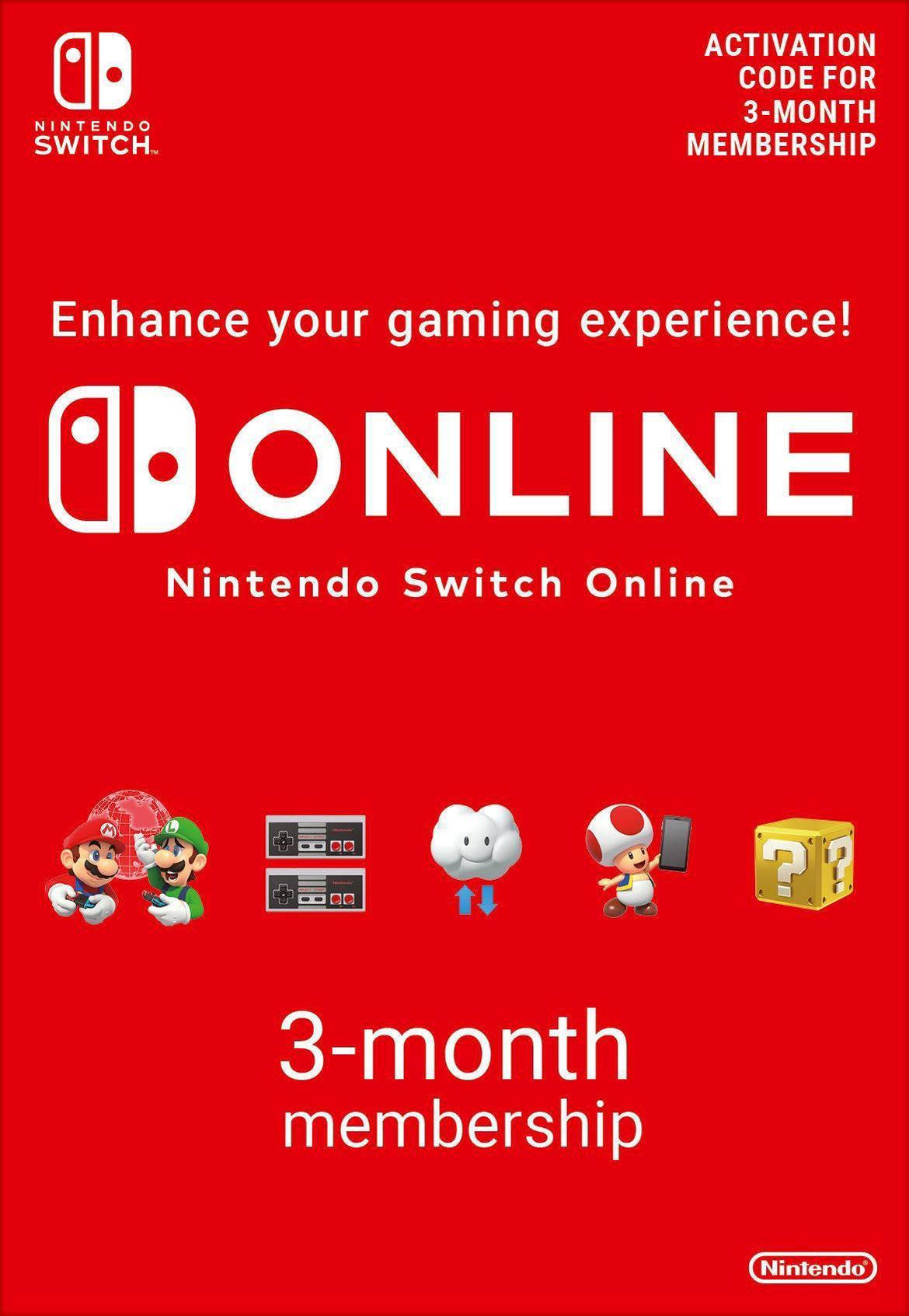Afbeeldingen van 90 Days Nintendo Switch Online Individual EU Membership