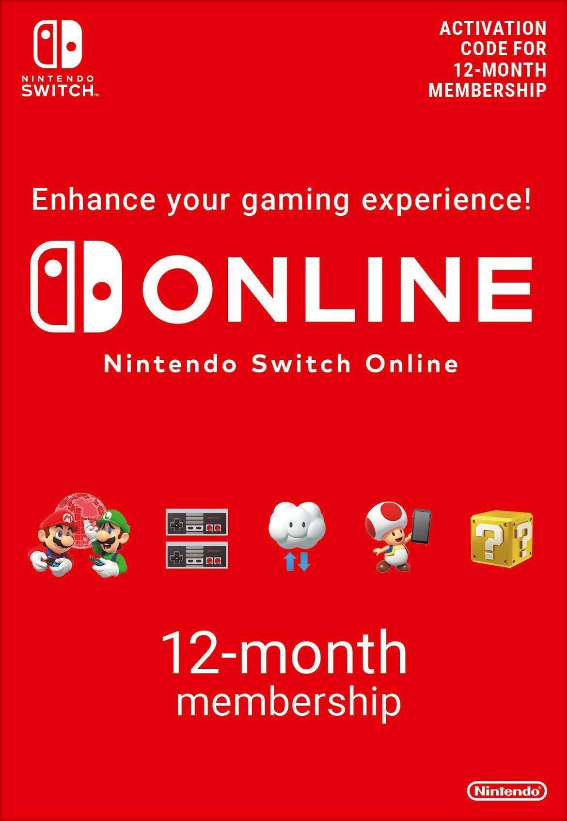Bild von 365 Days Nintendo Switch Online Individual EU Membership