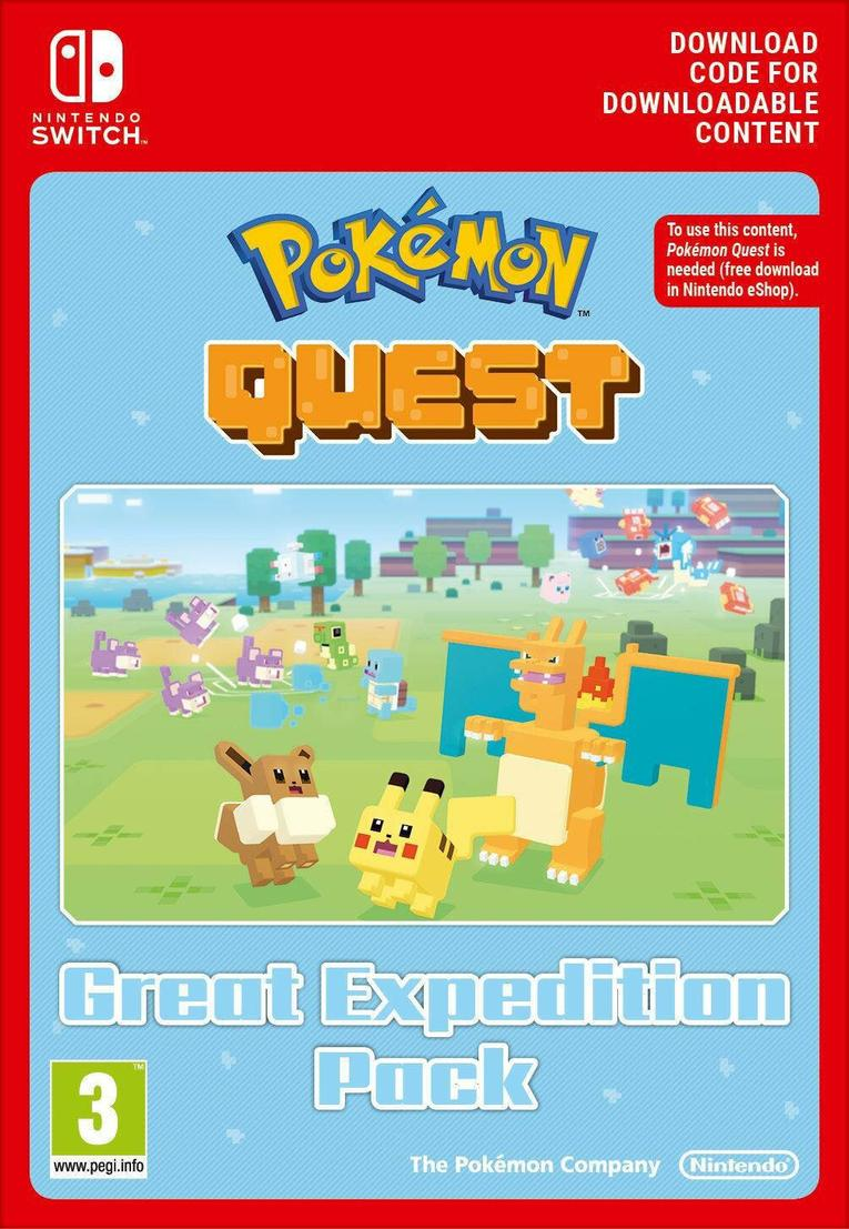 Pokemon Quest Great Expedition Pack EU Nintendo Switch resmi