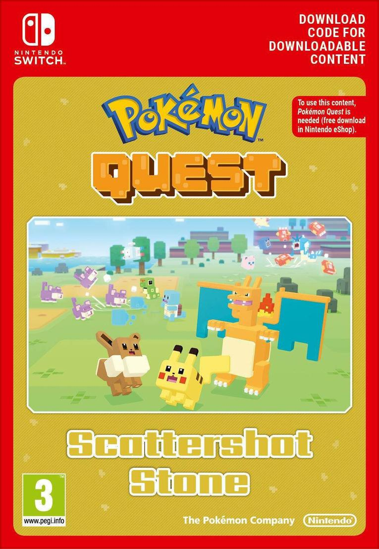 Pokemon Quest Scattershot Stone EU Nintendo Switch resmi