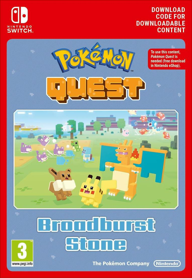 Pokemon Quest Broadburst Stone EU Nintendo Switch resmi