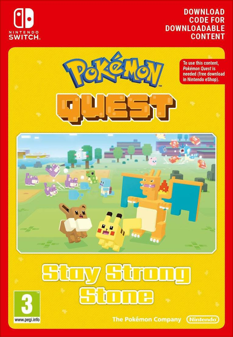 Pokemon Quest Stay Strong Stone EU Nintendo Switch resmi