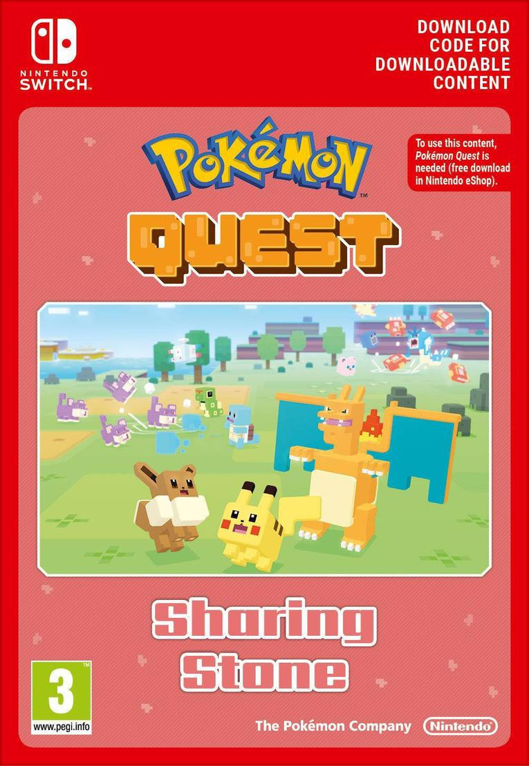 Pokemon Quest Sharing Stone EU Nintendo Switch resmi