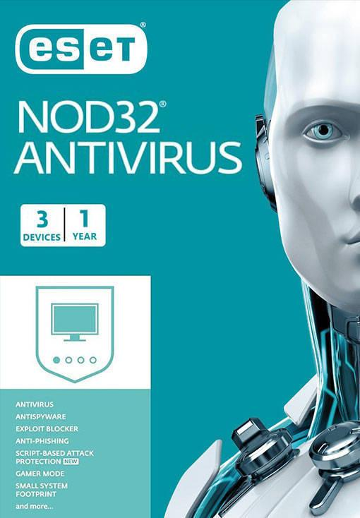 ESET NOD32 Antivirus - 3 Device - 1 Year