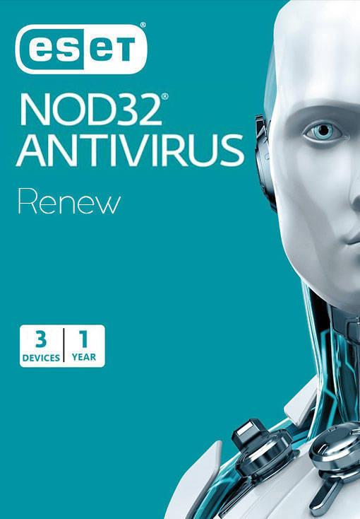 ESET NOD32 Antivirus - Renew - 3 Device - 1 Year
