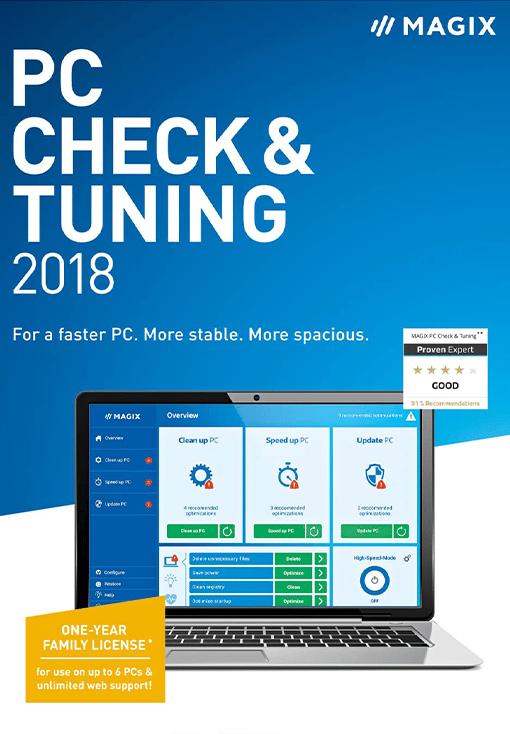 MAGIX PC Check & Tuning 2018