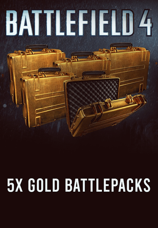 Battlefield 4: 5x Gold Battlepacks